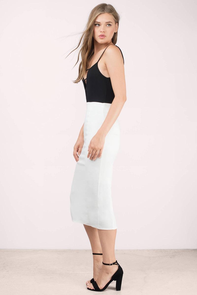 Sexy Ivory Skirt - White Skirt - High Waisted Skirt - $14.00