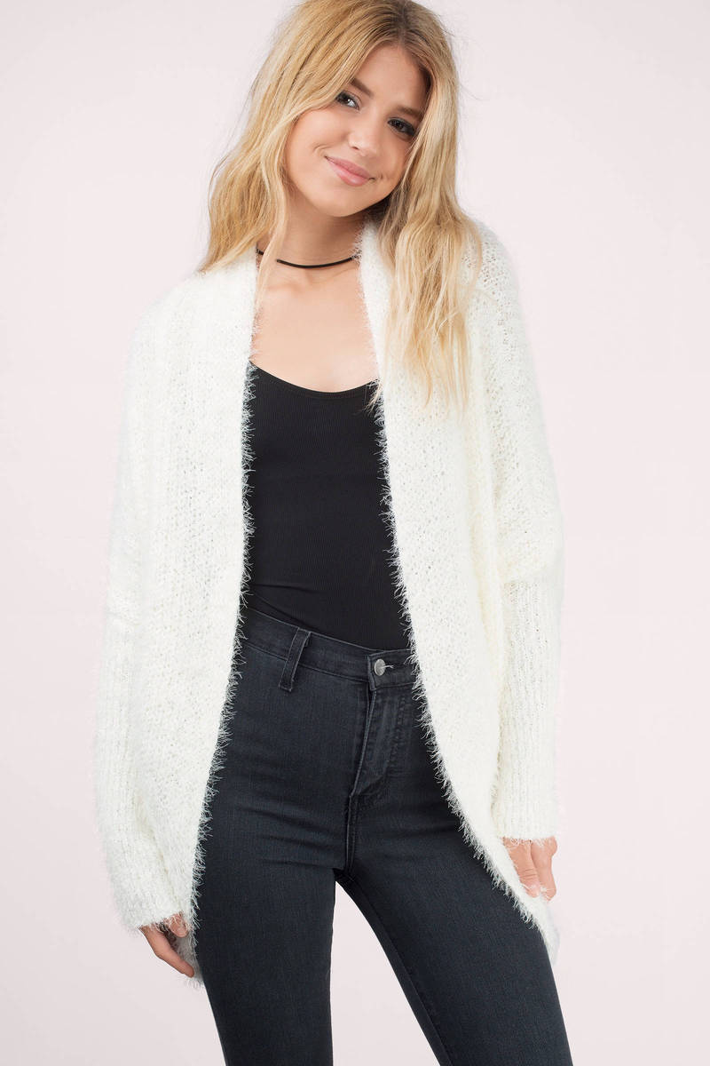 Cardigans And Necklaces: Fuzzy Cardigan