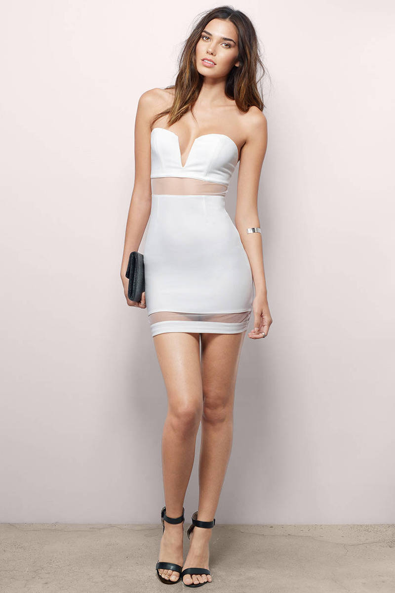 Trendy Lavender Bodycon Dress - Sweetheart Dress - Bodycon Dress ...