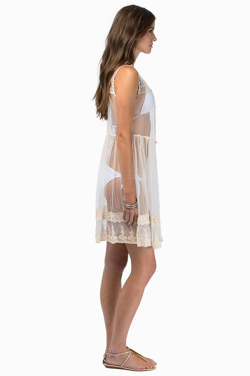 Sheer Lace Cover Up