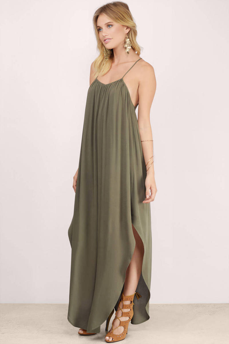Cheap Toast Maxi Dress - Beige Dress - Sheer Dress - $58.00