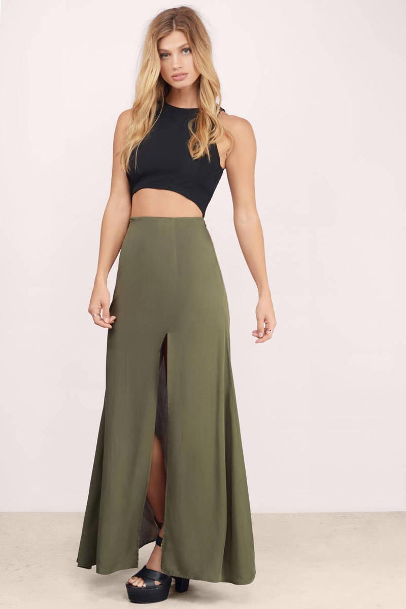 Sexy Black Skirt - Black Skirt - Slit Skirt - $24.00