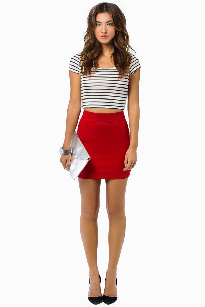 Berry Skirt - Pink Skirt - Mini Skirt - Berry Mini Skirt - $6.00