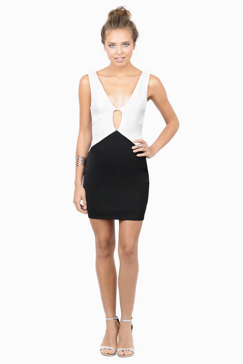 Trendy white black dress multi colorblock dress bodycon sent with love white black bodycon dress ombrellifo Image collections