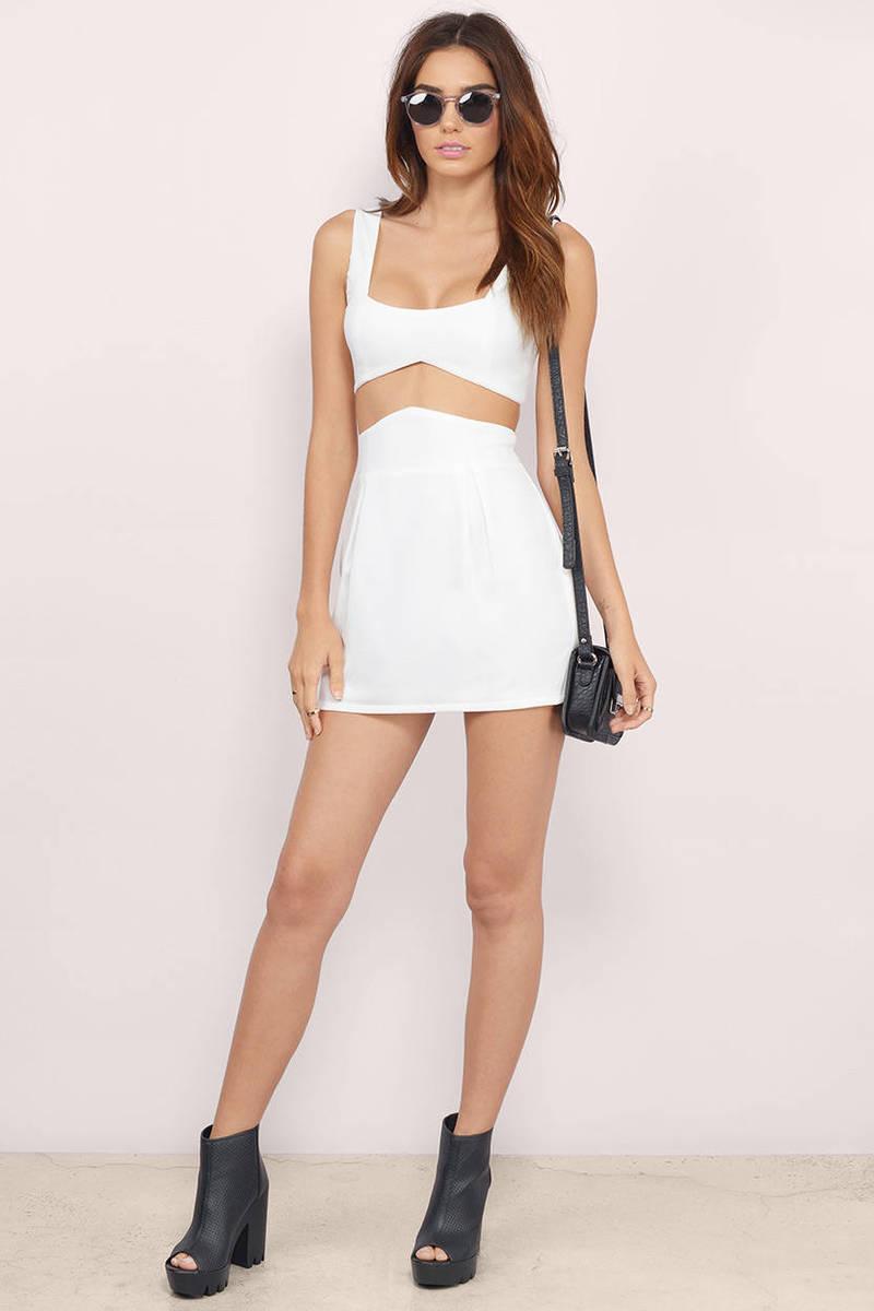 Cute Black Bodycon Dress - Two Piece Dress - Bodycon Dress - $16.00