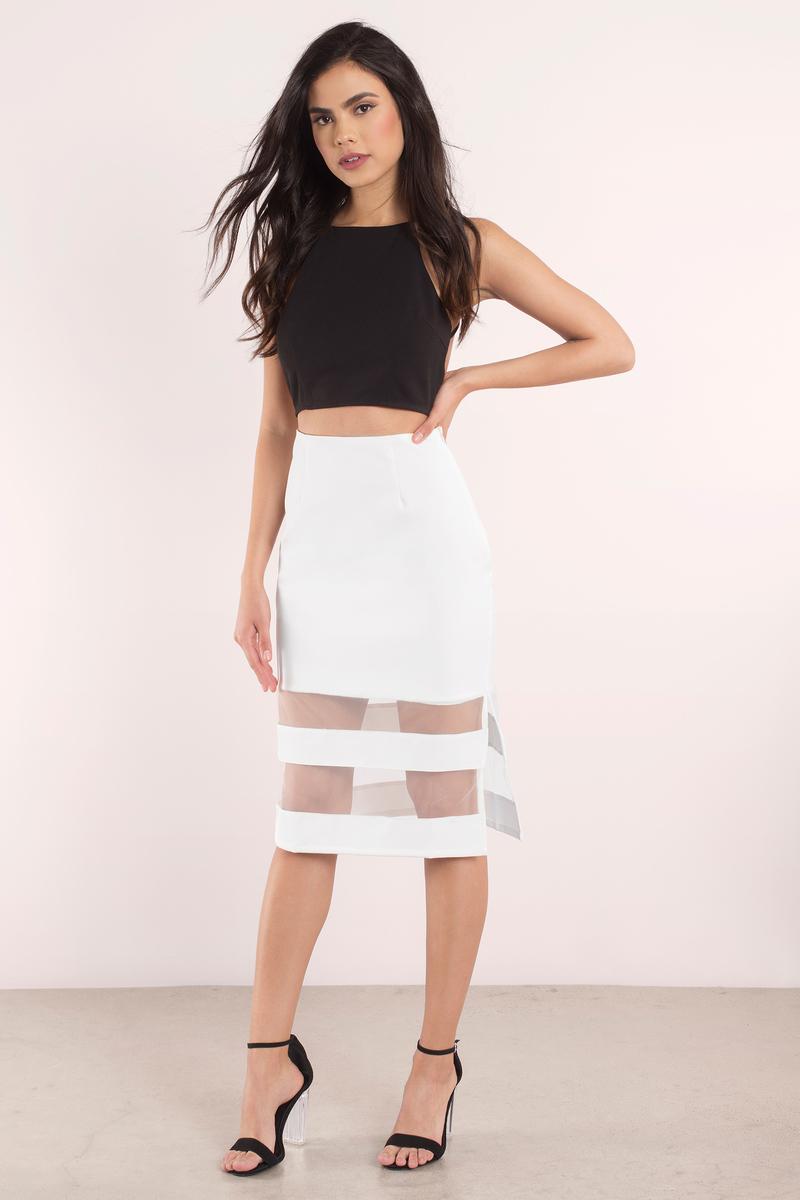 Trendy White Skirt - White Skirt - Mesh Skirt - $9.00