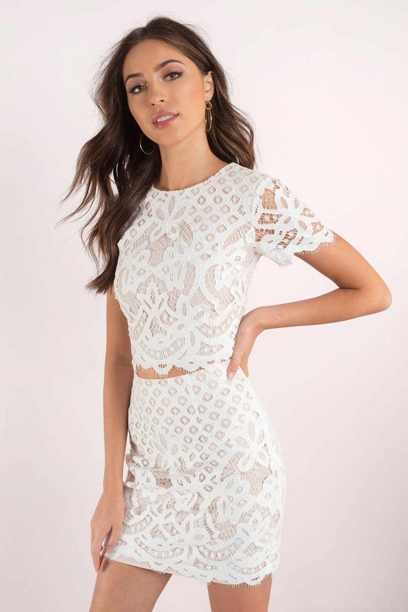 Cute White Top - Lace Crop Top - White Crop Top