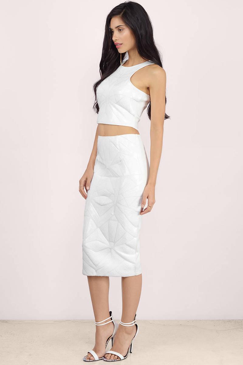 7e03ddb84f Sexy White Skirt - Pencil Skirt - Sequin Skirt - Bodycon Skirt -  9