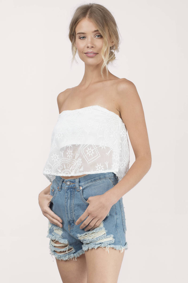 Wholesale Strapless Crop Tops