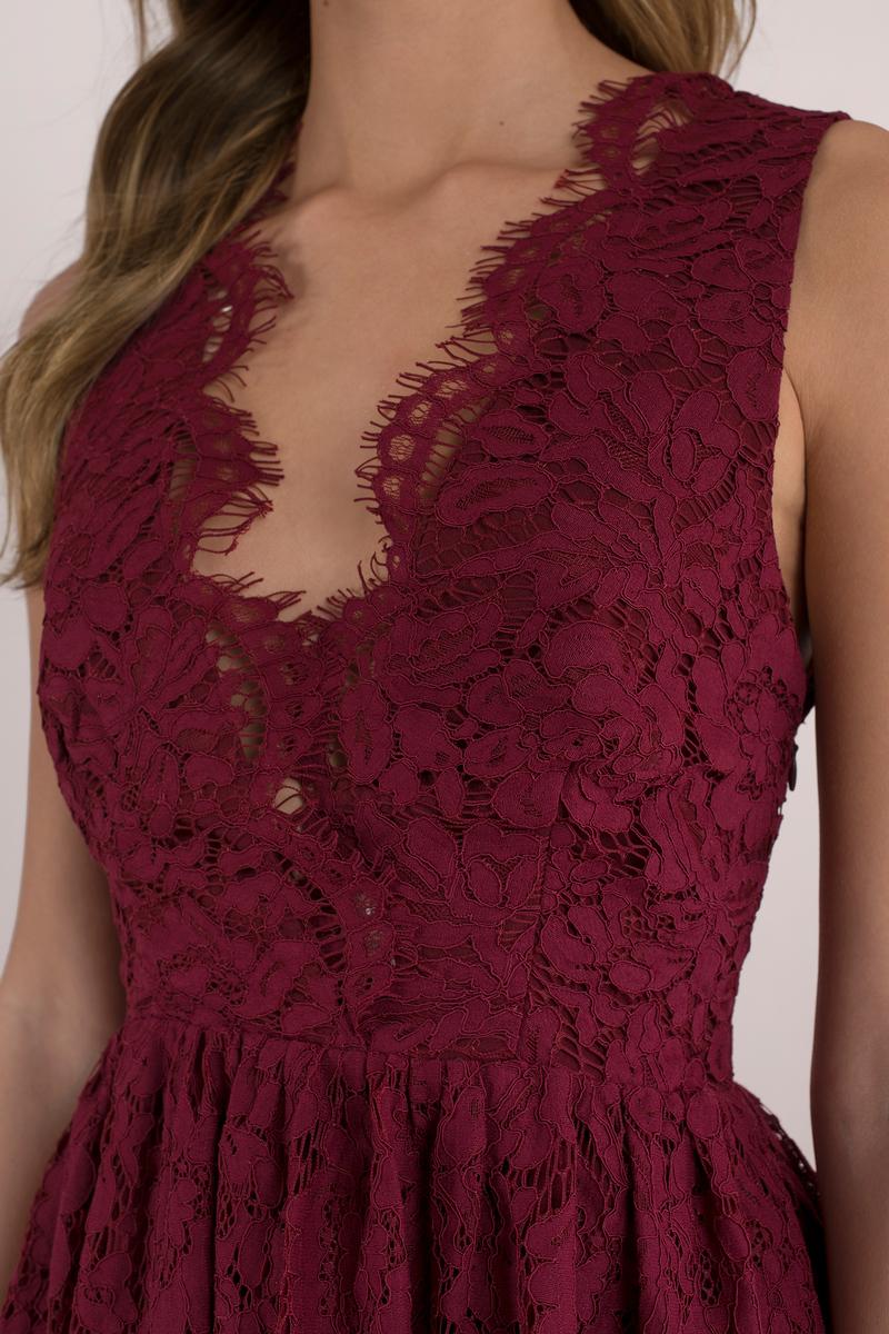Cute skater dress scalloped dress wine lace overlay dress 68 tobi us - The splendid transformation of a vineyard in burgundy ...