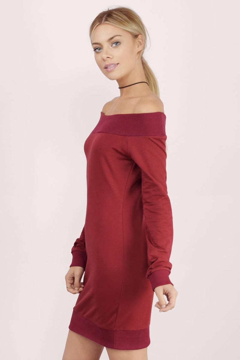 d1c6f63f04 Cheap Grey Day Dress - Long Sleeve Dress -  10.00
