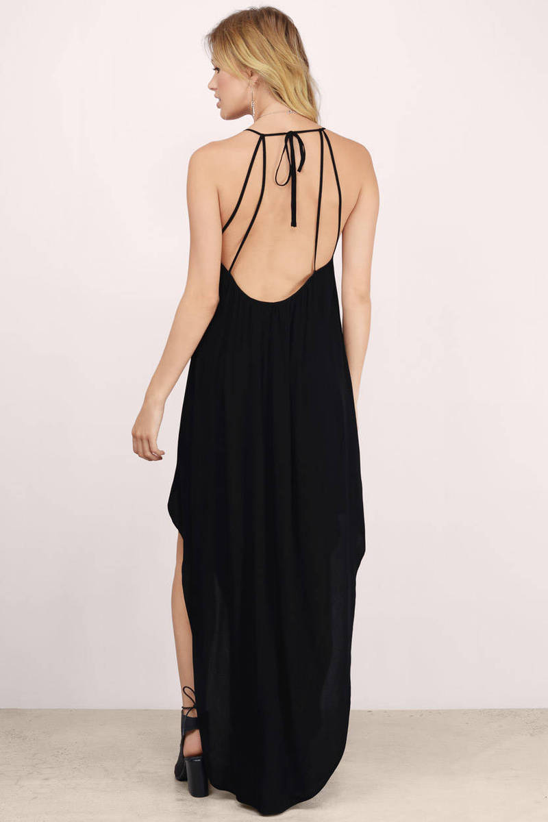 Cheap Black Maxi Dress - Black Dress - Sheer Dress - $23.00