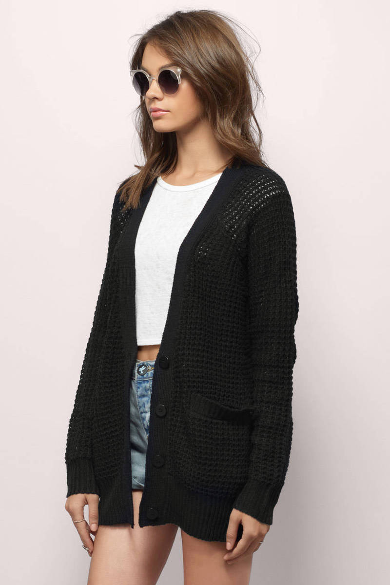 Black Cardigan Sweaters