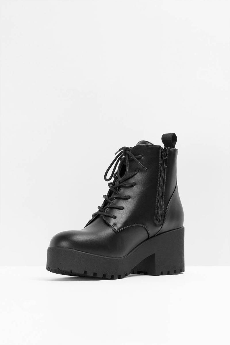 Black Boots - Black Boots - Ankle Boots - $76.00