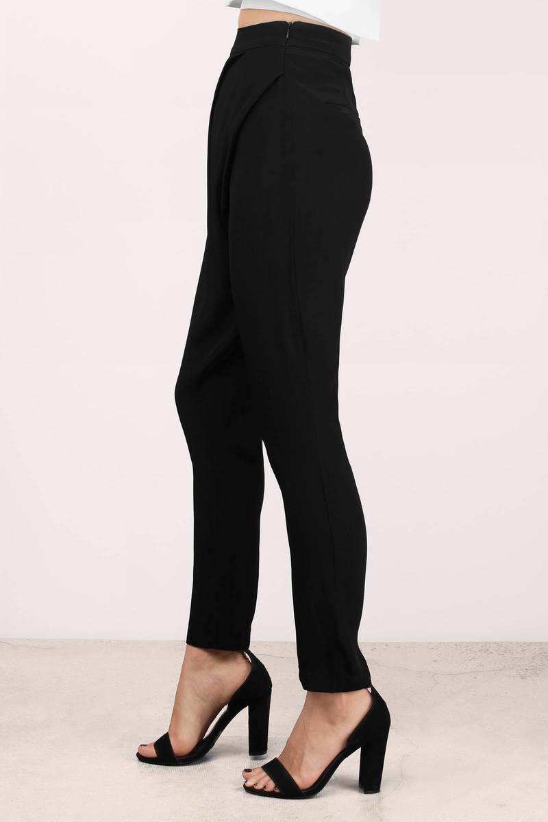 black pants  black pants  pleated pants  16900