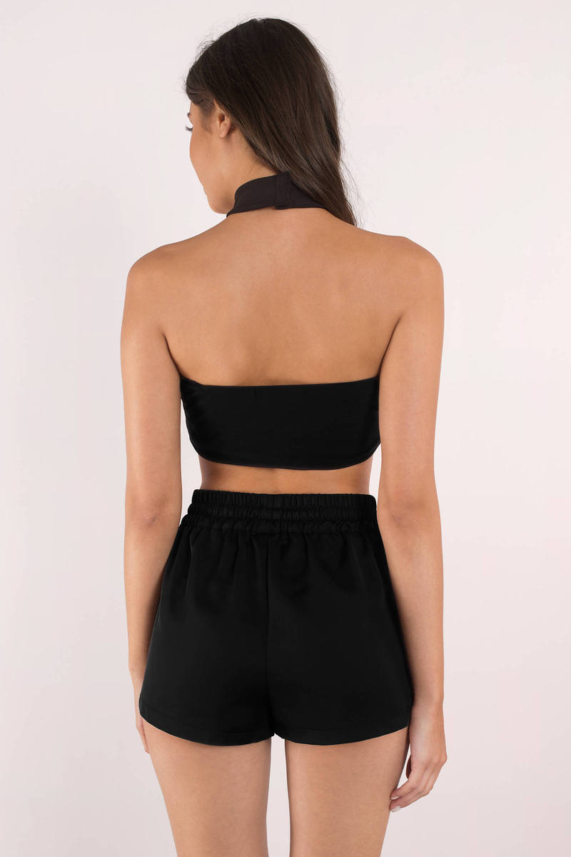 First Place Black Side Button Track Shorts - $60 | Tobi
