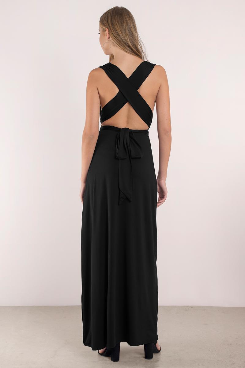 Black dress maxi -  Kylen Black Maxi Dress