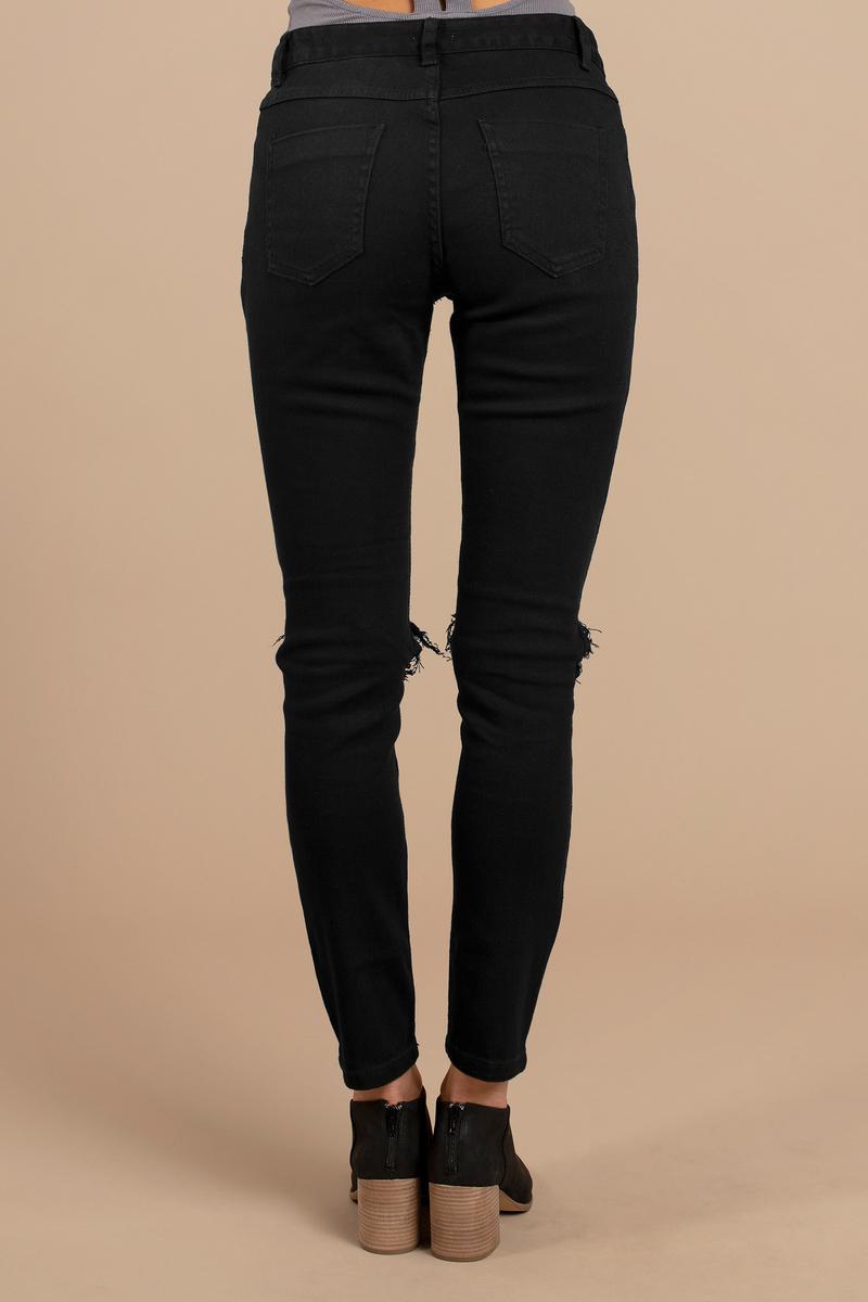 Trendy Black Jeans - Distressed Jeans - Skinny Jeans - Denim Jeans ...