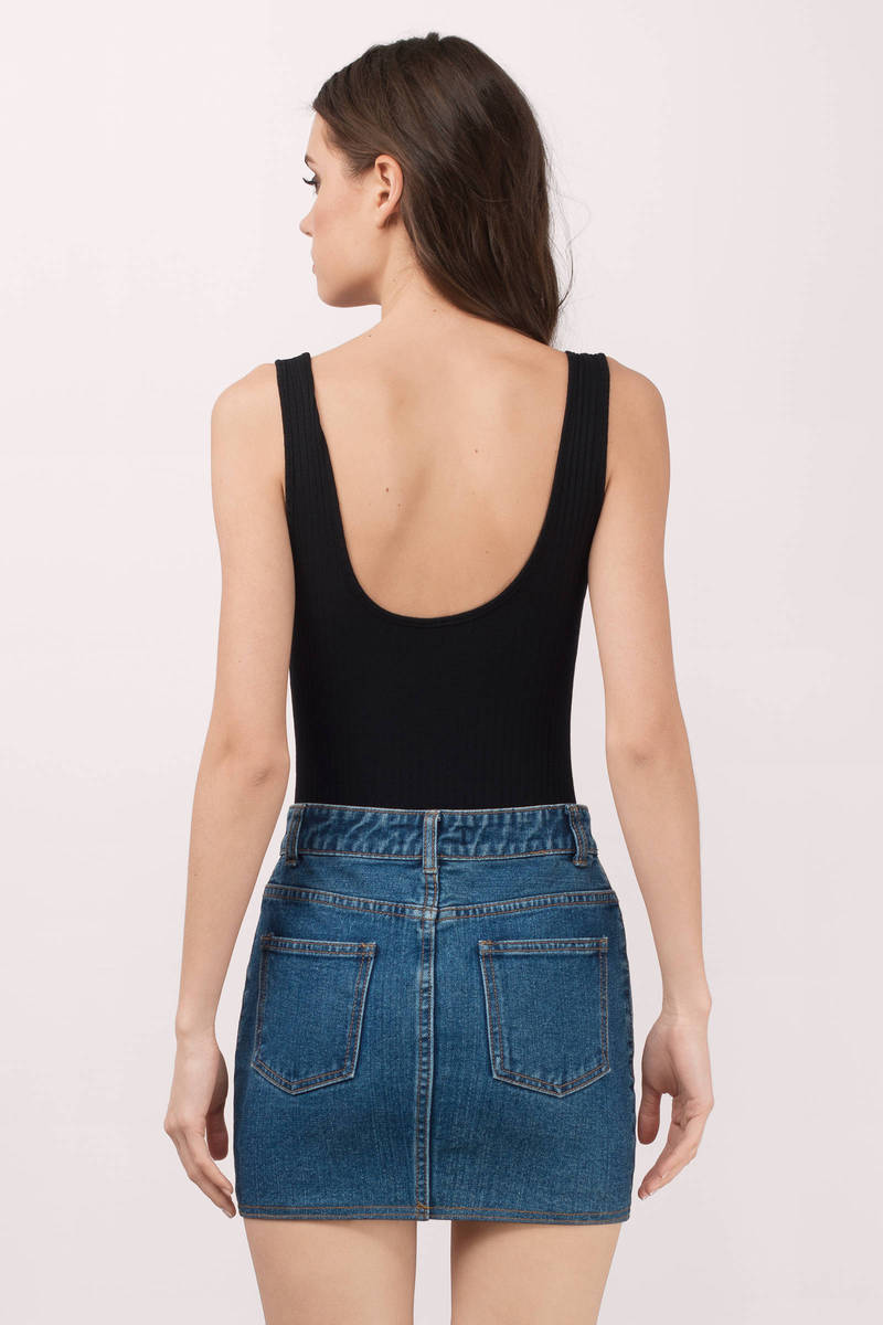 The Body Shop Careers >> Cute Black Bodysuit - Lace Up Bodysuit - Black Bodysuit | Tobi