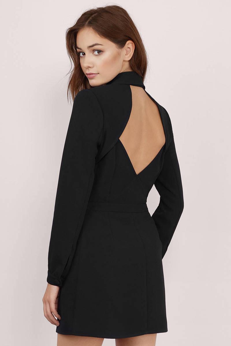 Trendy Cream Wrap Dress - Backless Dress - Wrap Dress - $21.00