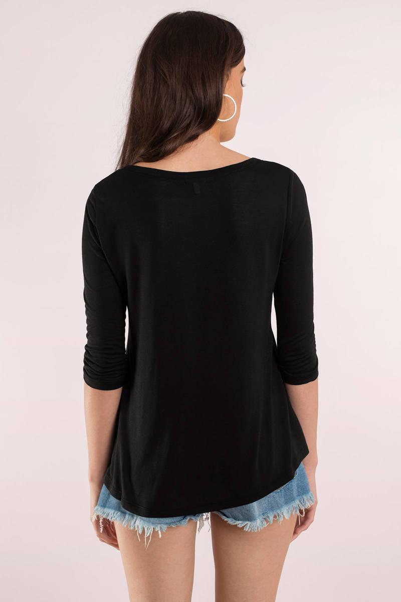 Black t shirt image -  Plain Jane Black Tee Shirt
