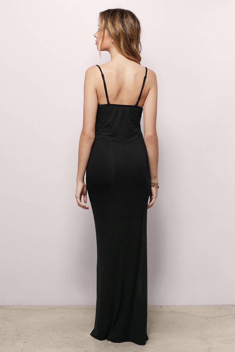 Cheap Black Maxi Dress - Black Dress - Cami Dress - $40.00