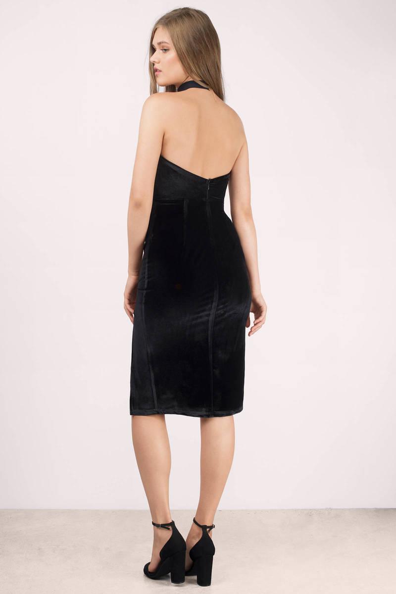 Black dress velvet -  Strike A Pose Black Velvet Bodycon Dress