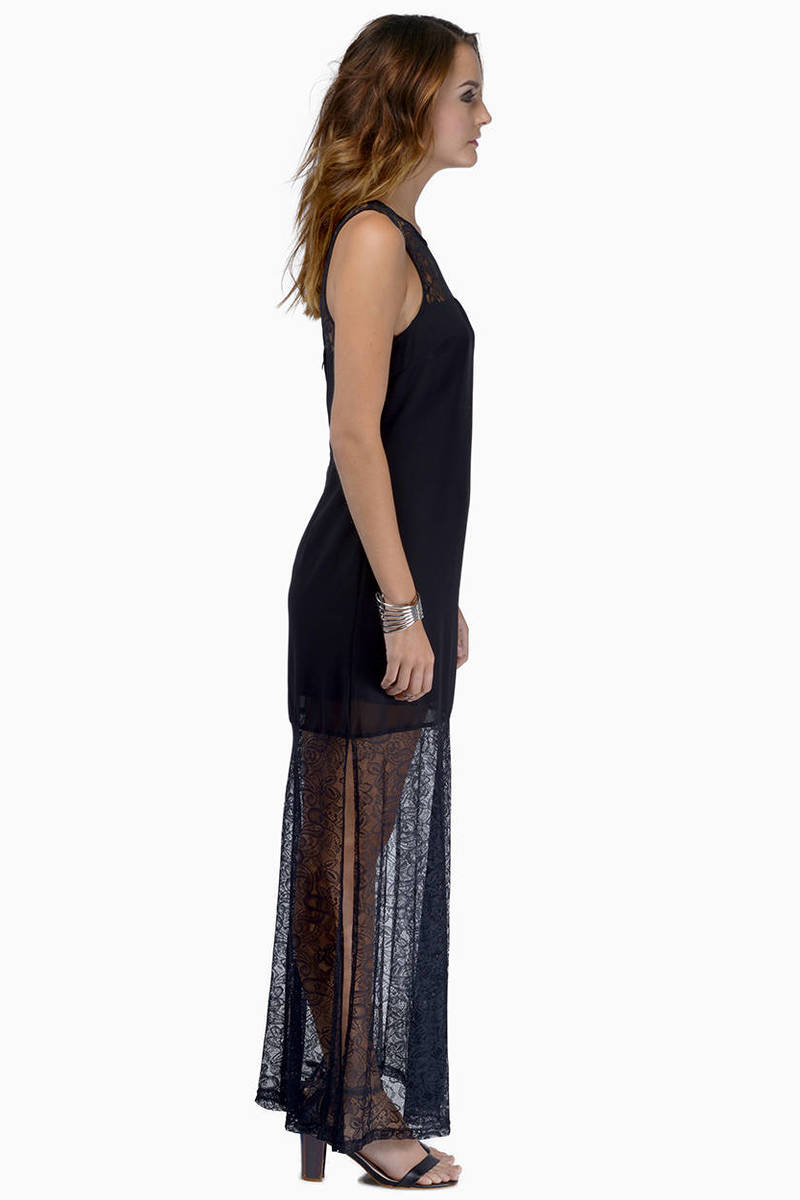 Cheap Black Dress - Black Dress - Elegant Lace Dress - Maxi Dress ...