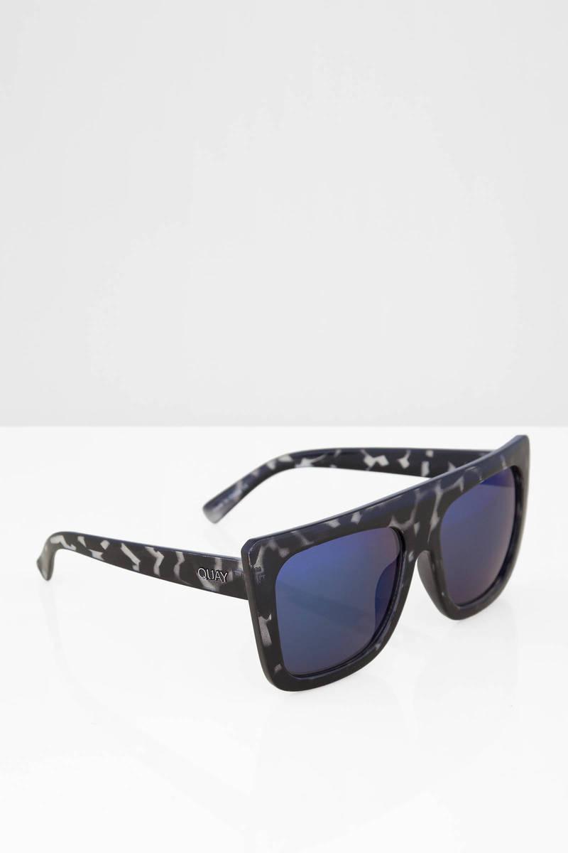 Quay Cafe Racer Black Tortoise Blue Sunglasses
