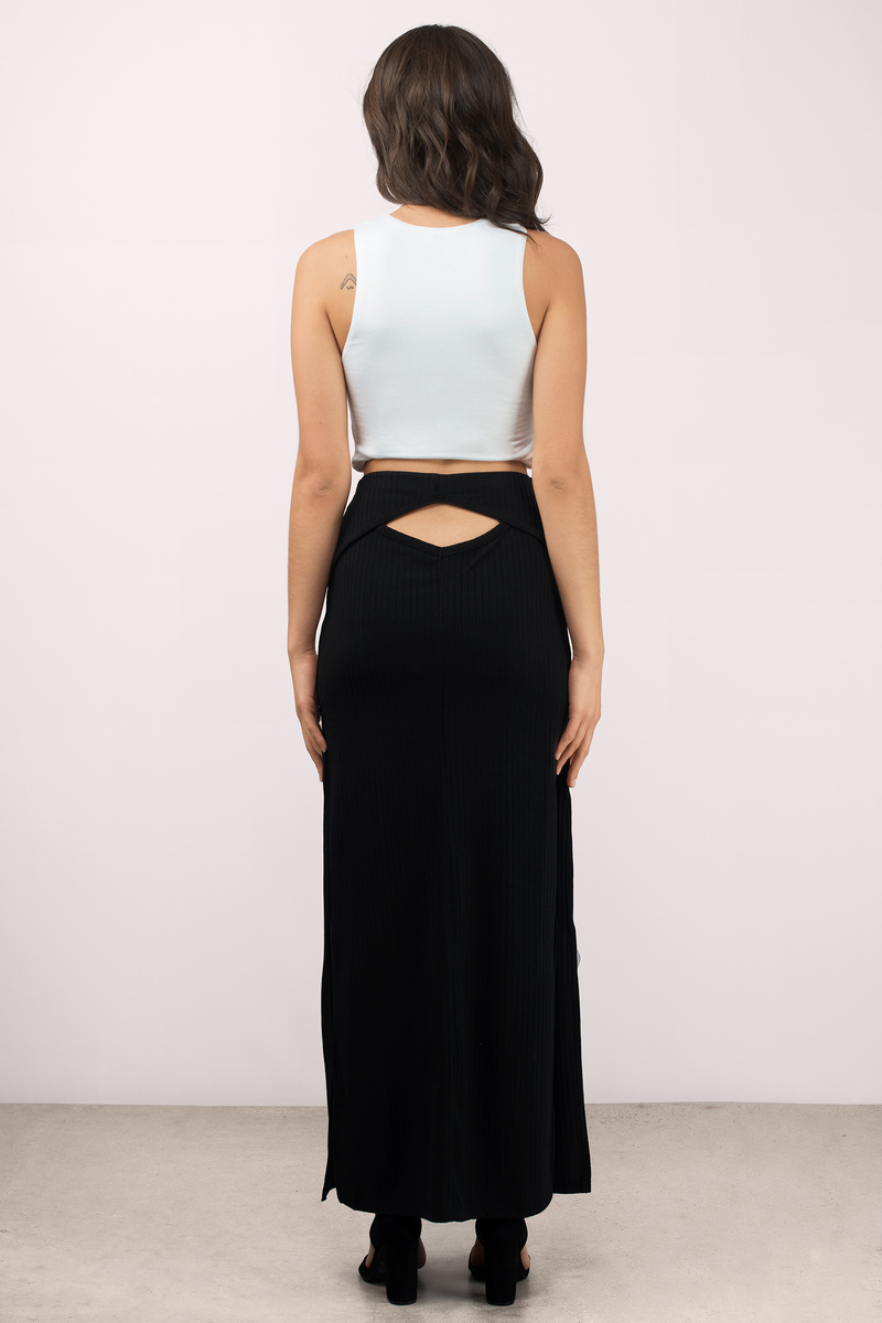 Trendy Black Skirt - Black Skirt - Cut Out Skirt - $13.00