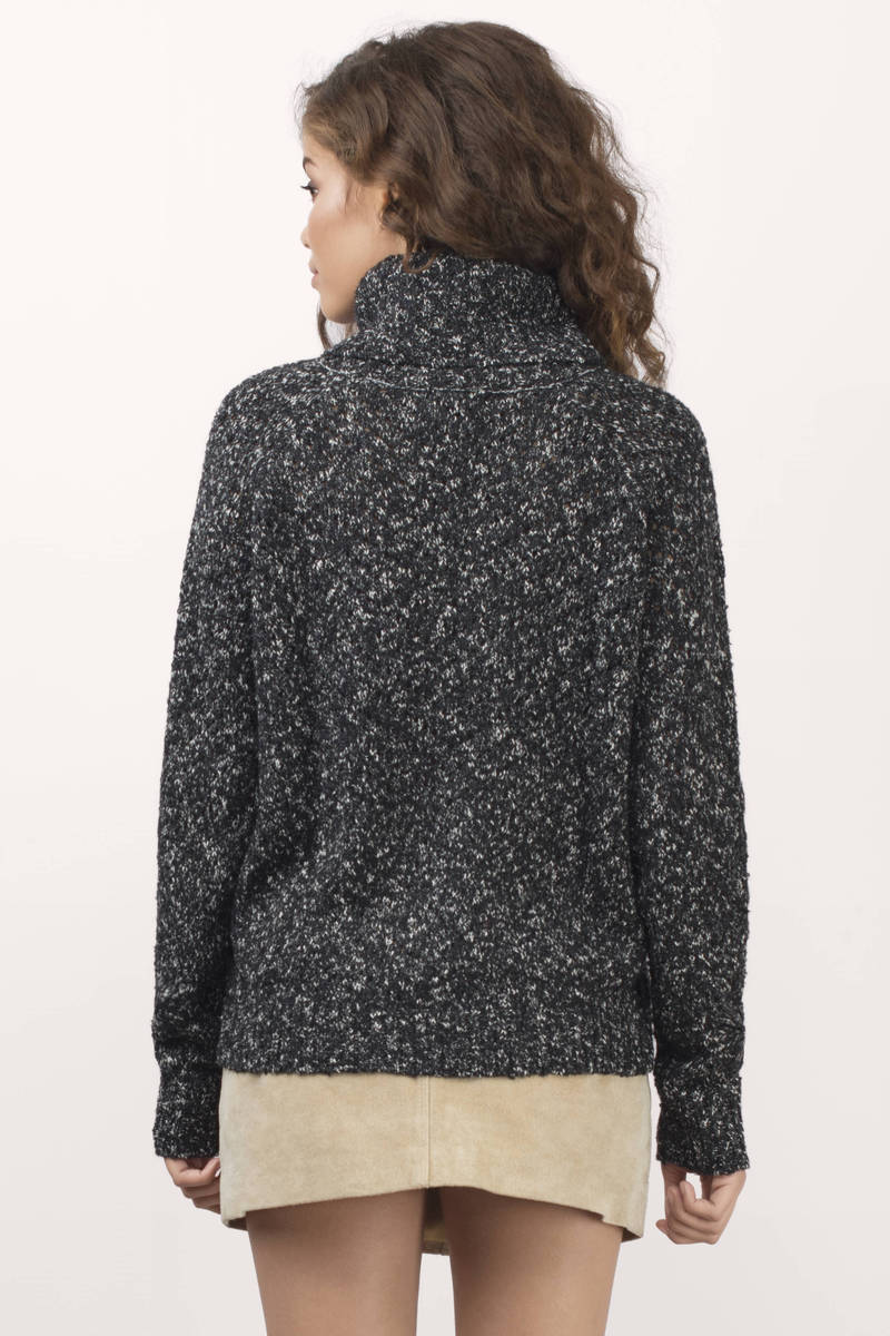 Black Amp White Sweater Cowl Neck Sweater Black Amp White