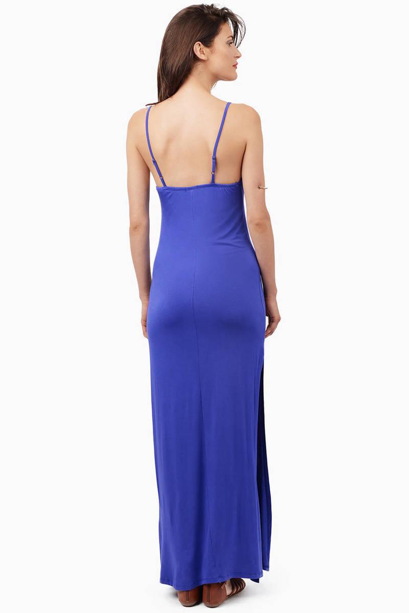 Cheap Blue Maxi Dress - Blue Dress - Cami Dress - $12.00