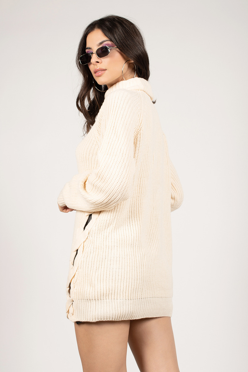Need You Cream Turtleneck - $33 | Tobi US