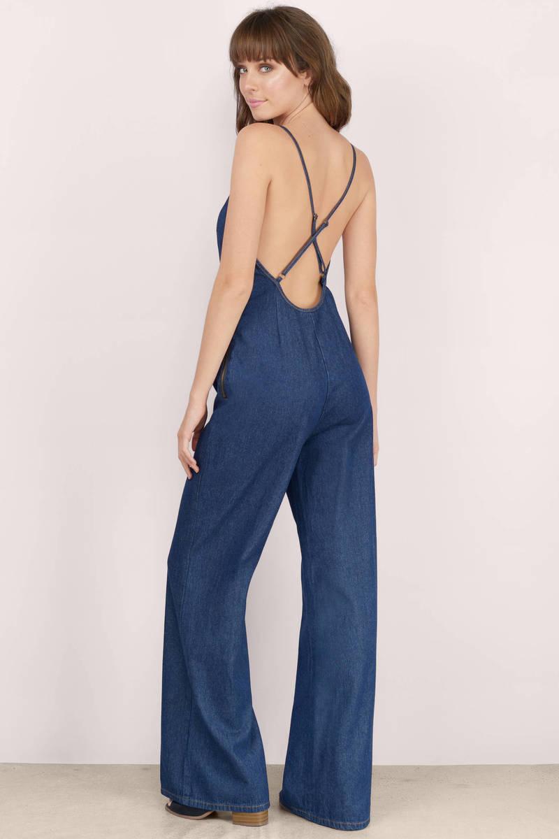 Dark Wash Jumpsuit - Blue Jumpsuit - Denim Jumpsuit