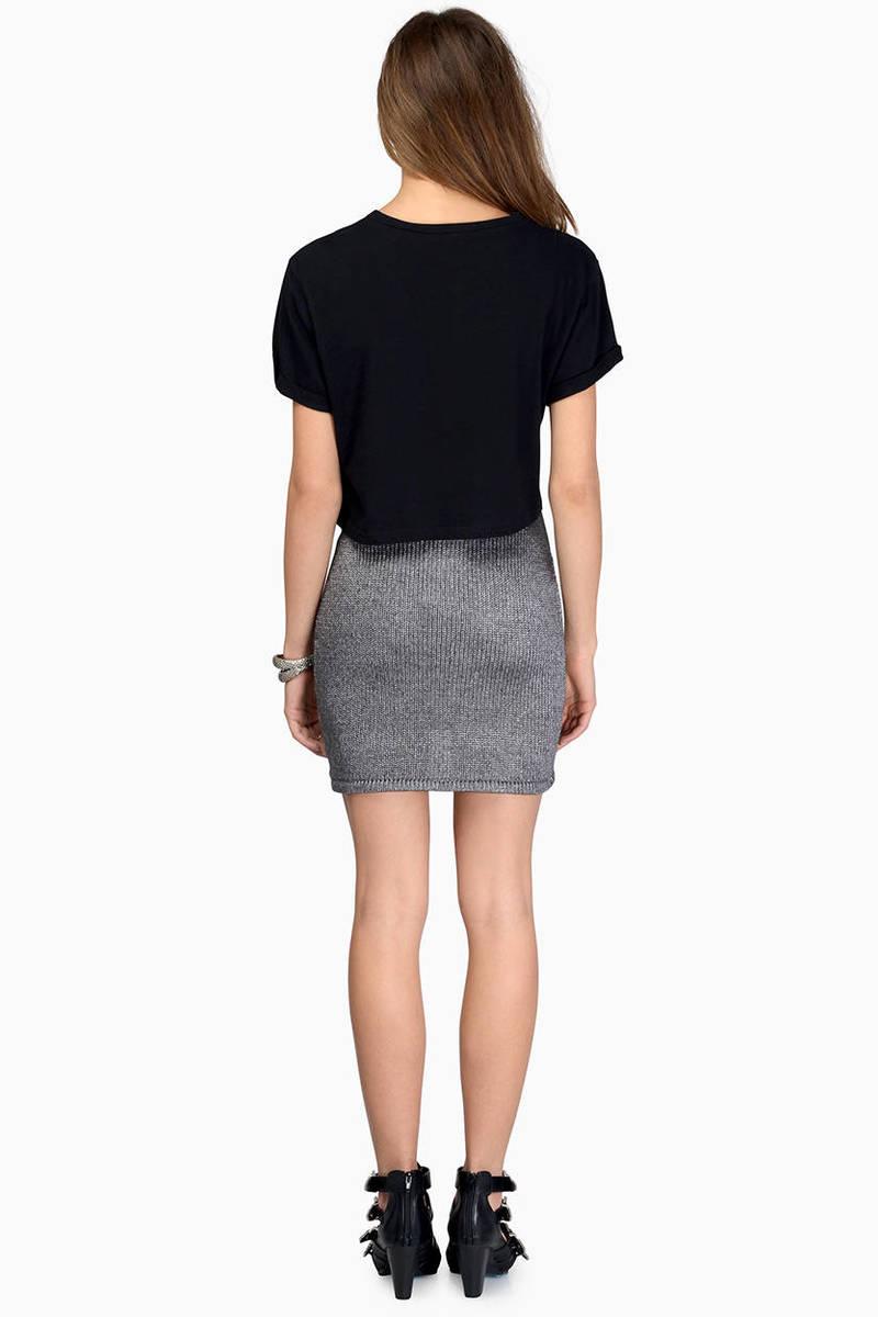 Cute Light Blue Skirt - Blue Skirt - Knit Skirt - Light Blue Skirt ...