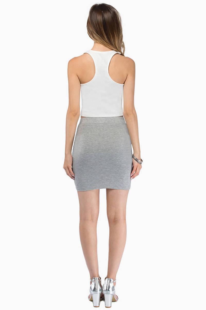 Trendy Charcoal Skirt - Mini Skirt - Grey Skirt - Charcoal Skirt ...