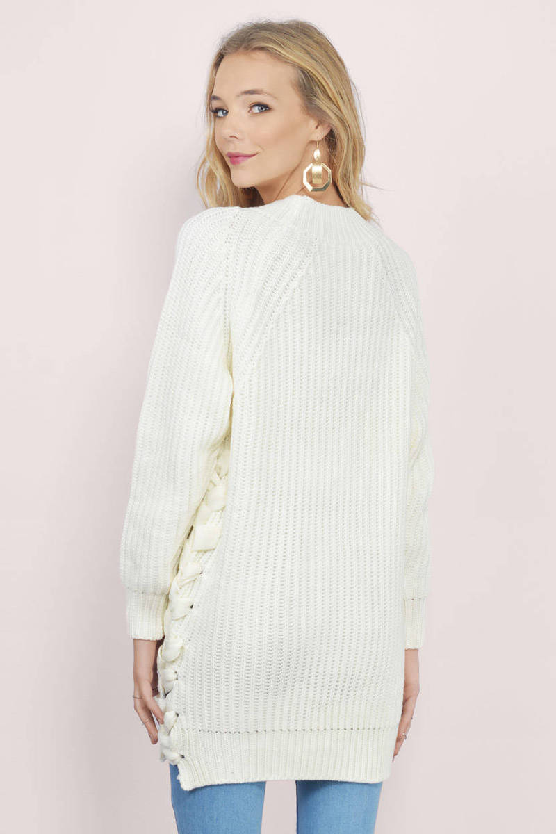 Lace Me In Oversized Sweater - $27 | Tobi US
