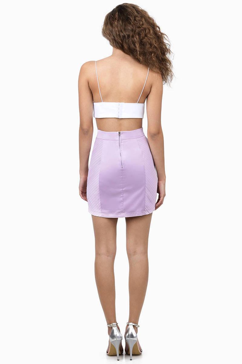 lavender skirt purple skirt topstitched skirt 1000