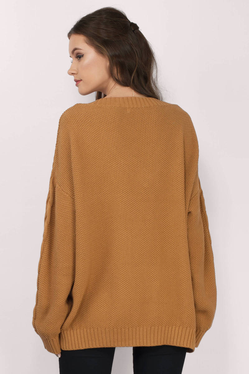cute mustard sweater oversized sweater 3600
