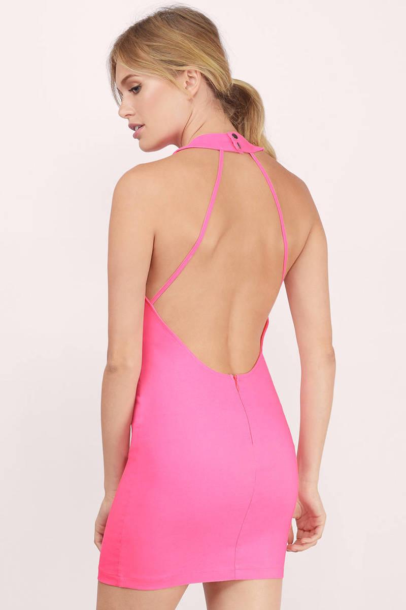 Bodycon neon pink dress england