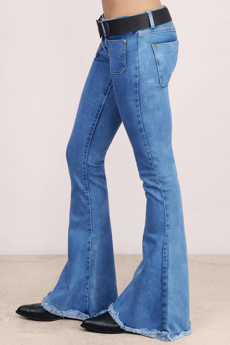 Oceanside Denim Jeans - Blue Jeans - Flared Jeans ...