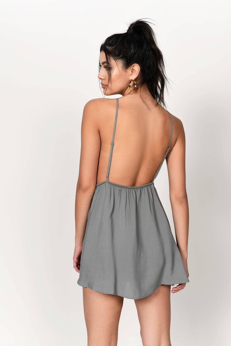 cute black dress open back dress black dress tobi