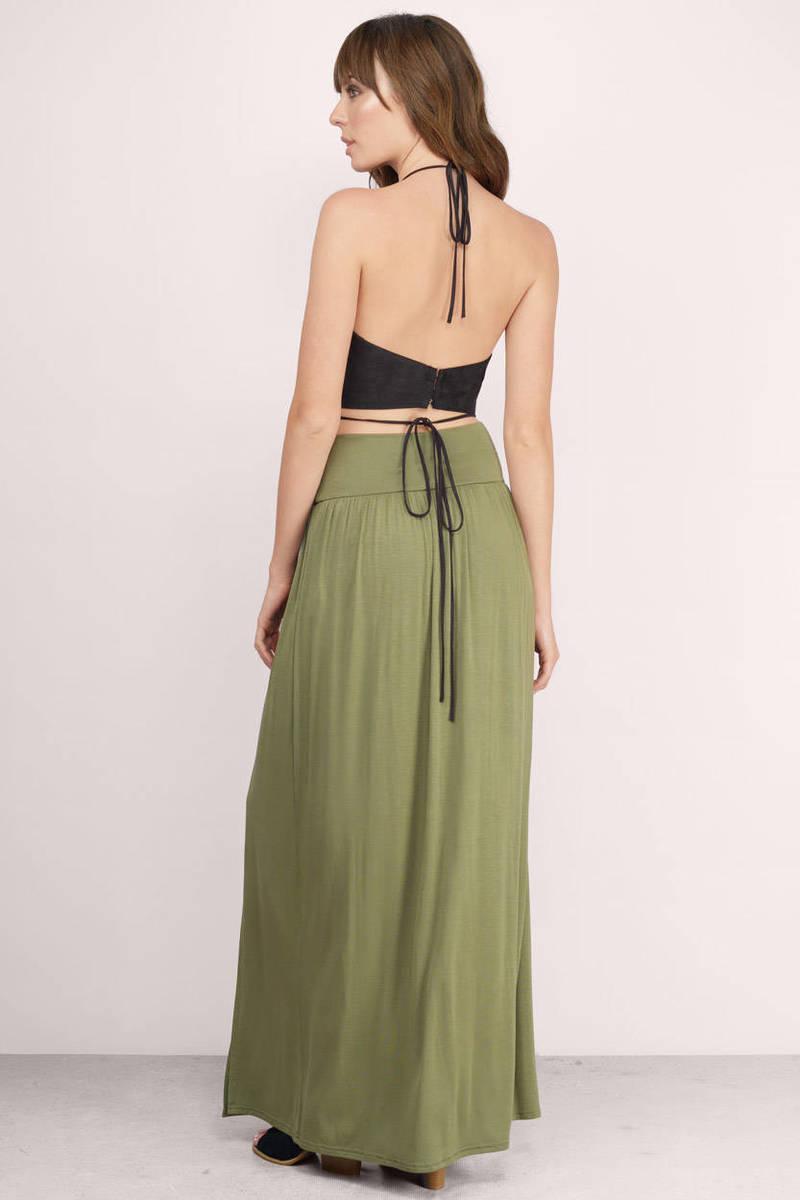 Brown Skirt - Pleated Maxi Skirts - Mocha Skirt - Maxi Pleated ...