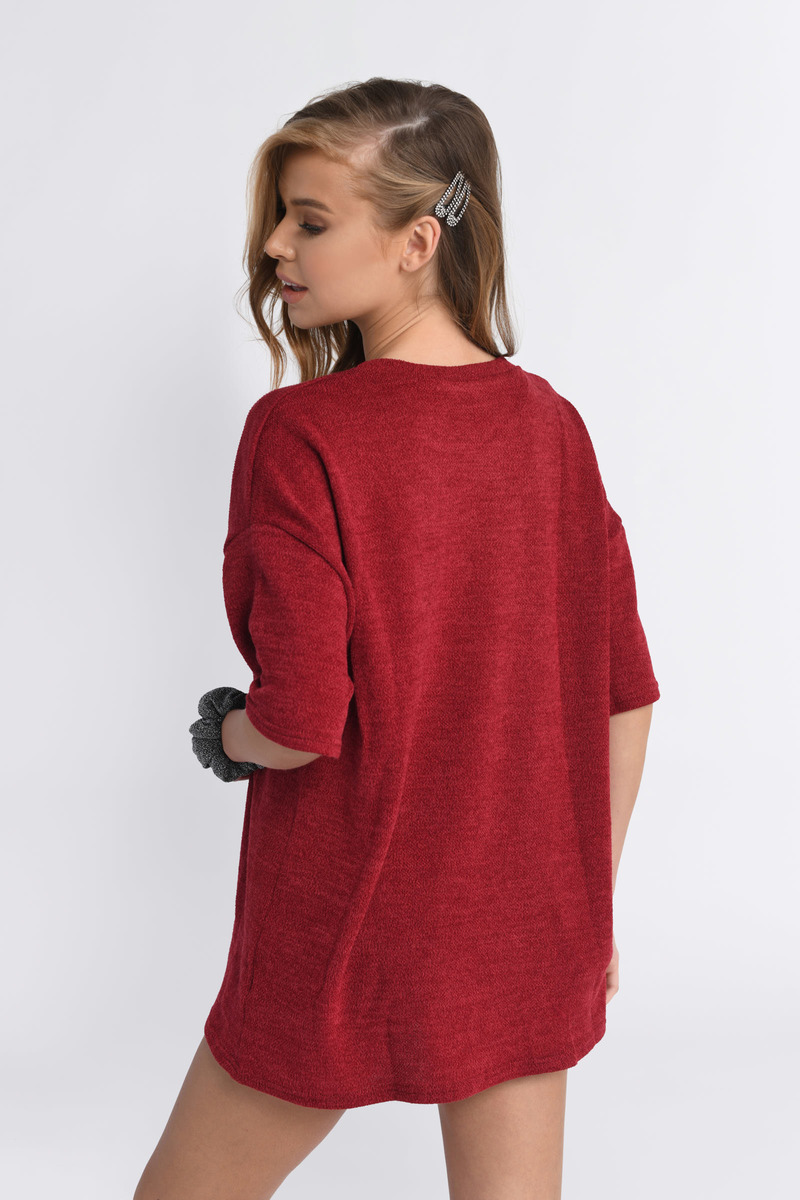 Kendall Red Short T-Shirt Dress - $58 | Tobi US