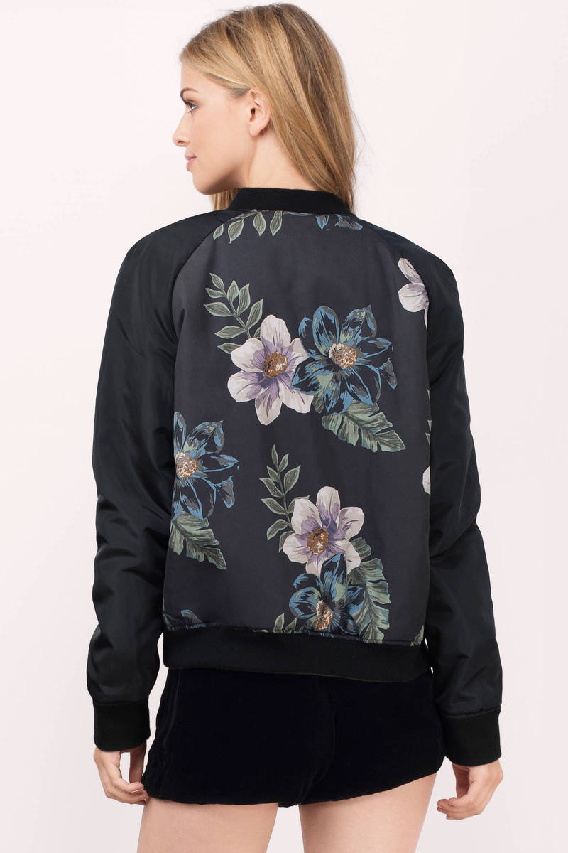 Thread &ampamp Supply Maura Floral Print Zip Front Reversible