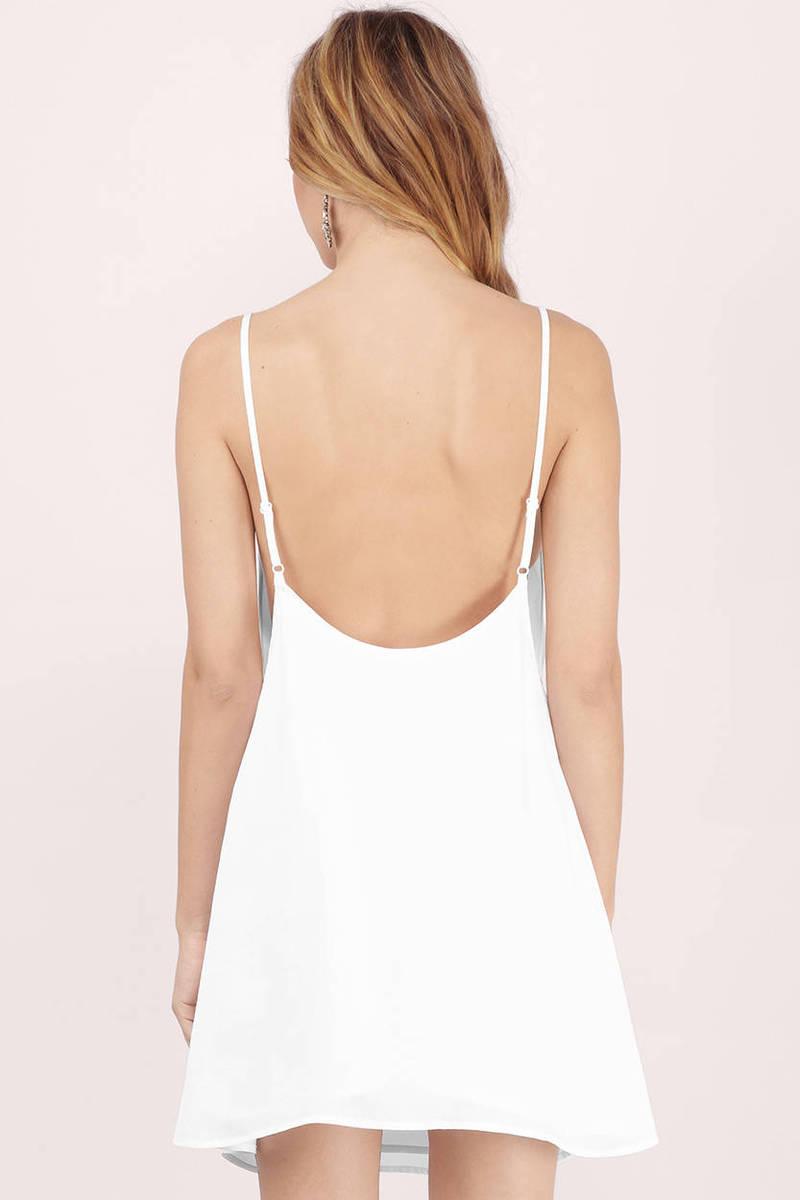 Cute White Shift Dress - V Neck Dress - White Dress - Shift Dress ...