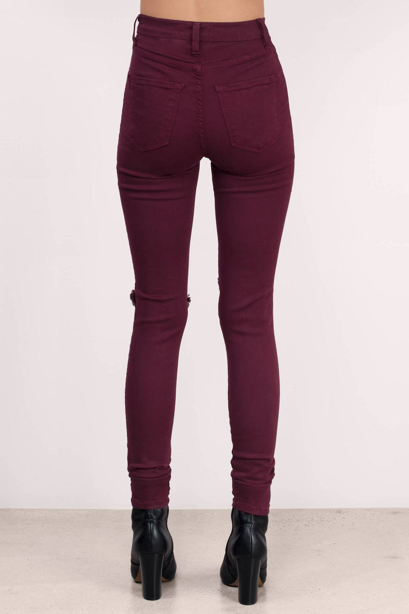Black Denim Jeans - Black Jeans - Distressed Jeans - $84.00