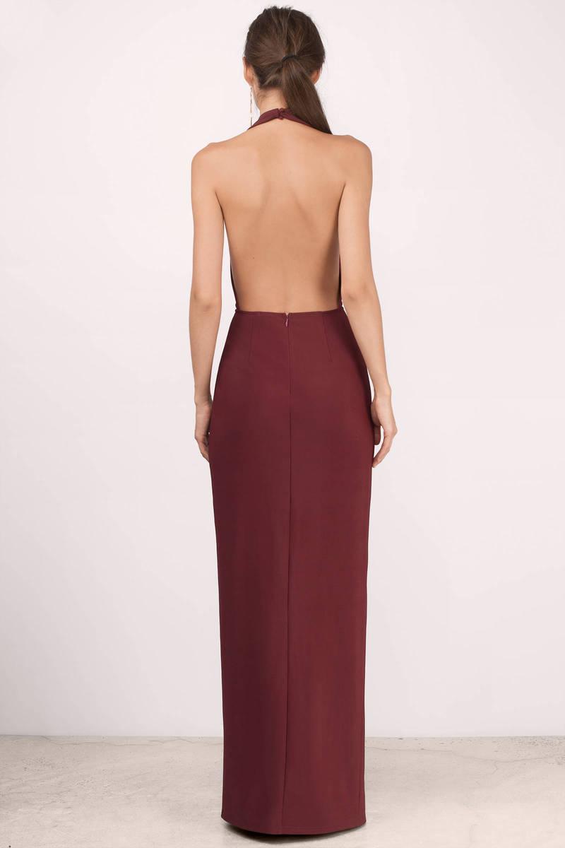 Black Maxi Dress - Black Dress - Deep V Dress - $68.00