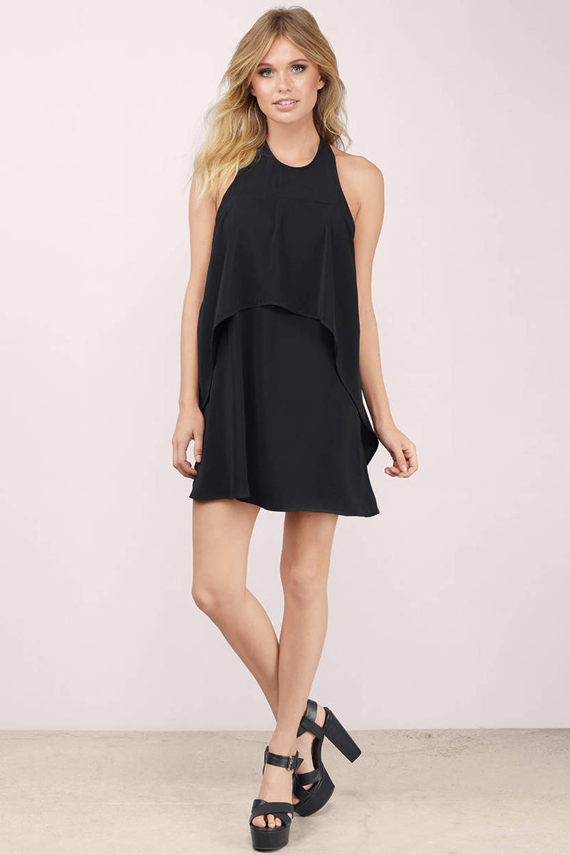 Cheap Black Shift Dress - Black Dress - Halter Dress - Shift Dress ...