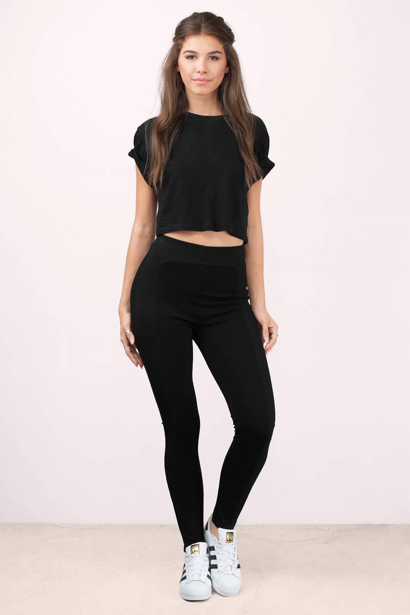 Black Pants - Stretch Pants - Legging Pants - Black Leggings - $36 | Tobi US